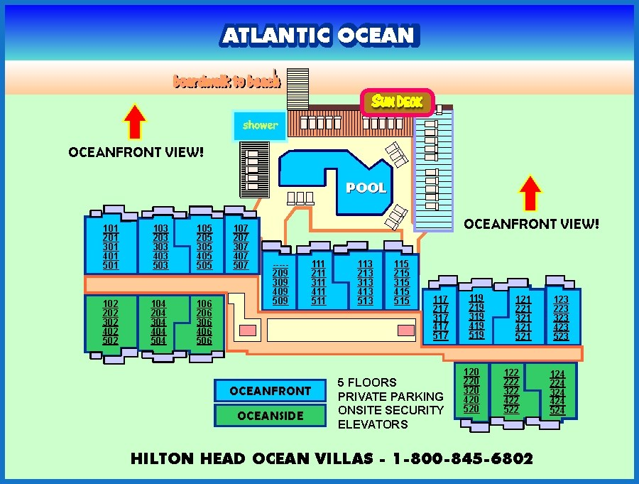 OCEAN ONE HILTON HEAD SITE PLAN