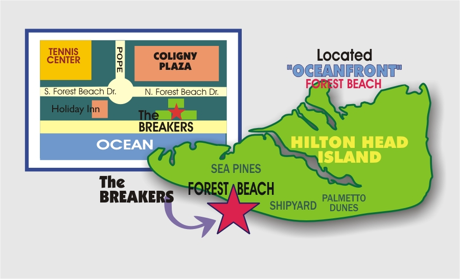 BREAKERS - North forest beach hilton head map